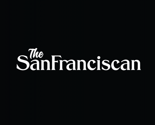"A white ""The San Franciscan"" logo on black"